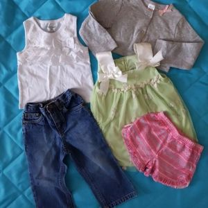 18 month baby girl clothes 5 pieces